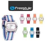 NEW Freestyle Watch SCHOOL SHARK Ladies, Womens, Girls, Fun Sports Surf Surfing Watch: Black, Azul Stripes, Pink, Key Lime, BANANA, Azul Blue, PINK 52917