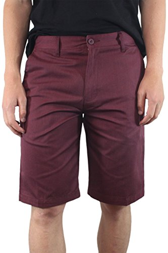 Burnside Men's Solid Daily Chino Short (40, Burgundy) (Wig The Old Hippie)
