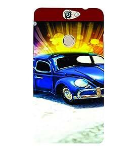 PrintVisa Cute Car 3D Hard Polycarbonate Designer Back Case Cover for COOLPAD MAX