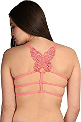 BYC Butterfly Strings Women's Sports Pink Bra
