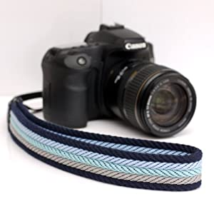 Ciesta CSS-F38-022 Fabric Camera Strap (Cheyenne Blue) for Toy Camera DSLR Mirrorless Camera