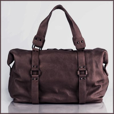 BACCINI large travel duffle bag VINCERA unisex - crafted weekender (holdall) in genuine brown leather (20 x 13 x 6 in.)