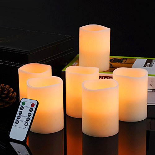 Bingolife Real Wax Flameless Weatherproof Outdoor and Indoor LED Candles 3