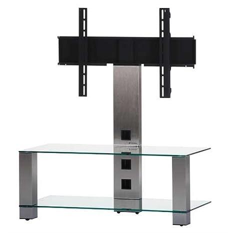 Sonorous PL 2495-C-INX  Sonorous PL 2495-C-INX Tisch fur 40 Zoll Fernseher, Aluminium Inox Klarglas/Silber