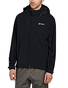 Berghaus Men's Gore Tex Paclite III Shell Jacket - Black/Black, Small
