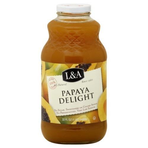 L & A Juice Papaya Delight 32 Oz (Pack Of 6)