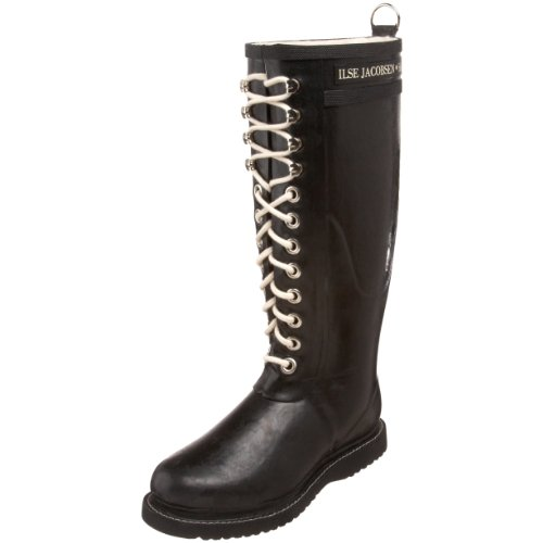 Ilse Jacobsen Long Rubberboot RUB1, Stivali donna, Nero (Schwarz (Black 01)), 38