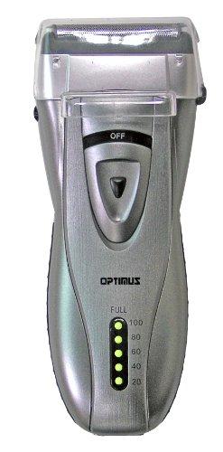 Optimus 50046 Curve Rechargeable Triple Blade Wet/Dry Men'S Shaver, Black/Silver