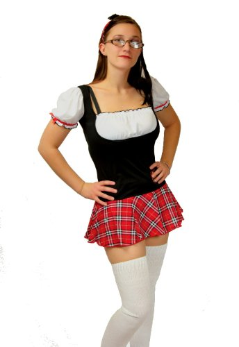 Elegant Moments Womens Sexy School Girl Costume with Socks