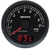 PIVOT ( ピボット ) メーター【DUAL GAUGE DXシリーズ】エンジン回転 カプラーオンタイプ DXT