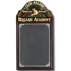 Hand-Carved Billiard Academy Sign