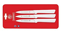 Mundial SCW0547-4 4-Inch Paring Knife Collection Set of 3 White