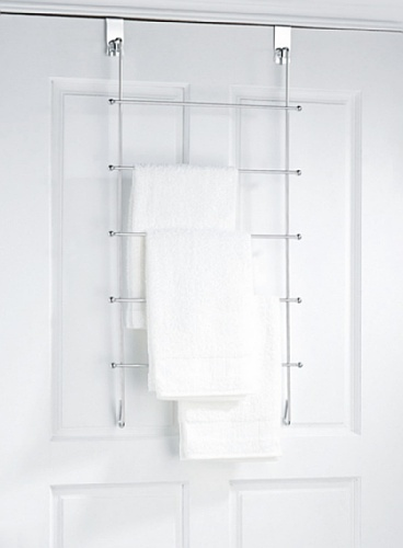 Over The Door Hanging Towel Rack Organizer Tier Bar Holder Bathroom Organizer Ebay