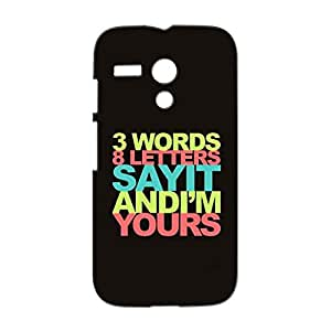 Mobile Cover Shop Glossy Finish Mobile Back Cover Case for Motorola Moto G