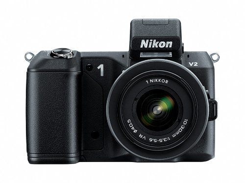 Nikon 1 V2 Mirrorless Camera Kit with 10-30mm VR 1 NIKKOR Lens (Black)
