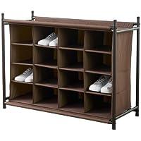 Neatfreak 16 Compartment Shoe Organizer (Brown)