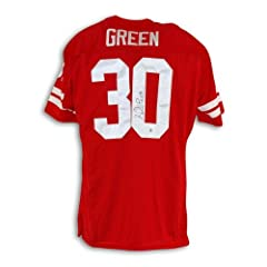 Ahman Green Nebraska Cornhuskers Autographed Hand Signed Throwback Jersey