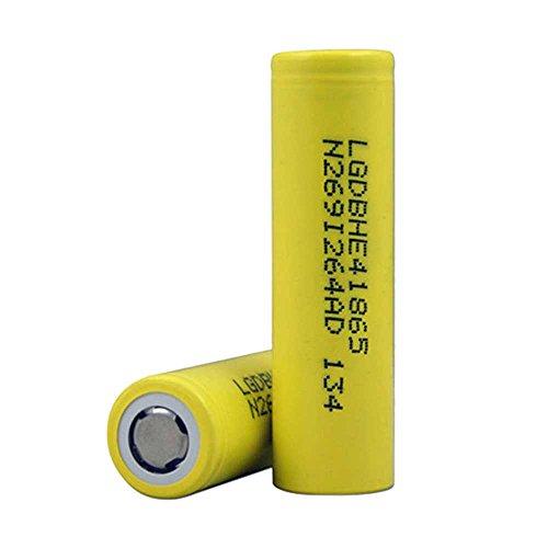 2 x LG 2500 mAh 18650 35 A IMR Piles à Sommet Plat. Parfait pour E-cigarette haute consommation et haute puissance Lampes torches