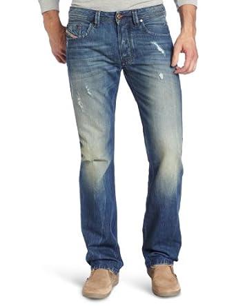 Diesel Men's Larkee Regular Straight Leg Jean 0075I, Denim, 30x32