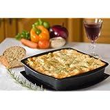 WellBake Square Cake / Lasagne Dish 9 inch. Superior Quality Non-Stick Silicone Bakeware + 10 Year Guarantee