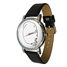 buy Scrambled Time Design Watch. Jumbled Numbers, Shows Numbers Falling Off. Genuine Leather Strap