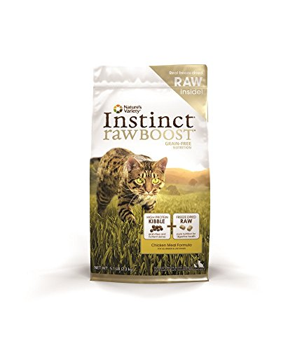 Instinct Raw Boost Grain-Free Chicken Meal Formula Dry Cat Food By Nature'S Variety 5.1 Lb Bag