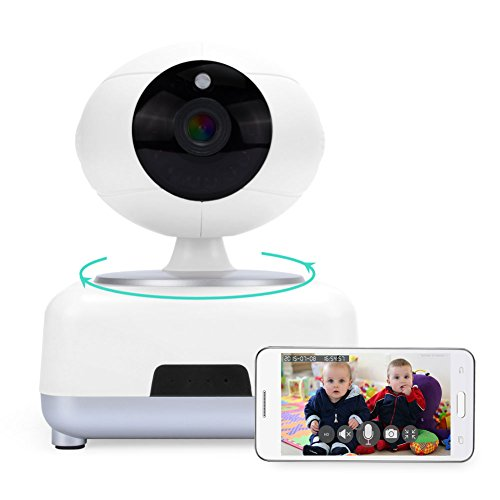 IdeaNext WI-FI Network Pan&Tilt IP Security Spy Video Surveillance Camera Wireless Baby Monitor HD 720p 1.3MP IPCAM Night Vision/ /2-way Audio/ SD Video Record /Motion Detection/Remote Internet Video Guarding with APP for iphone /Android Smartphone/Tablets and PC