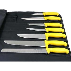pradel excellence sacoche du boucher 8 pieces couteaux cuisine maison. Black Bedroom Furniture Sets. Home Design Ideas