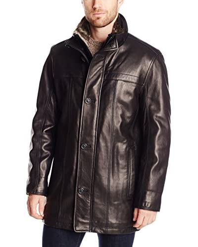 Marc New York Men's Sullivan 33″ Smooth Lamb Car Coat