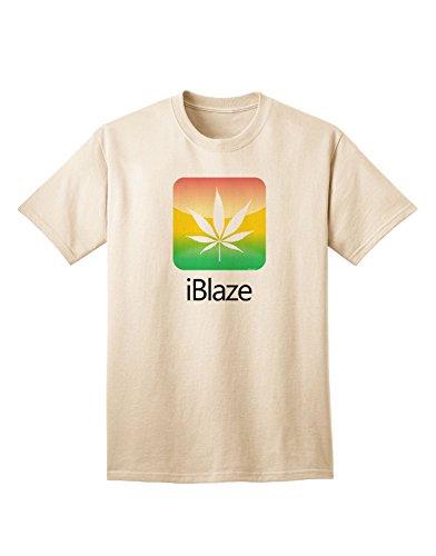 Iblaze Logo - Marijuana Leaf Adult T-Shirt - Natural - 2Xl