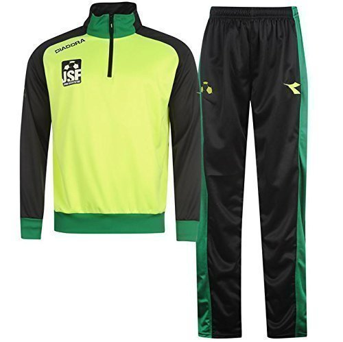 diadora-football-training-tracksuit-neon-green-black-polyester-xl-kids