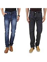 UK Blue Men Jeans Combo Of Dark Blue And Grey Jeans