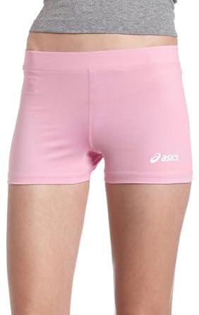 ASICS Women's Locut Running Short Short,Pink,XXS