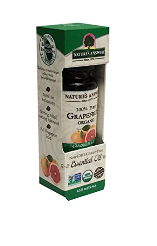 Nature's Answer 100 Percent Pure Organic, Grapefruit Essential Oil, 0.50 Ounce
