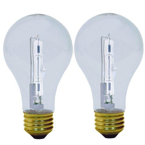 GE Lighting 78796 Energy-Efficient Crystal Clear 43-Watt (60-watt replacement) 750-Lumen A19 Light Bulb with Medium Base, 2-Pack
