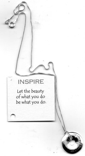 Inspire Necklace: Silver/Silver-Tone Be Inspired by Macy's LET THE BEAUTIY OF WHAT YOU DO BE WHAT YOU DO
