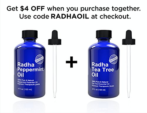 Details for Peppermint Essential Oil 4 oz - 100% Pure & Natural Mentha Peperita Therapeutic Grade by Radha Beauty Products LLC