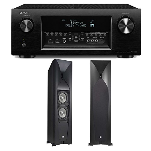 Denon Avr-X4000 7.2-Channel 4K Ultra Hd Networking Home Theater Receiver Plus A Pair Of Jbl Studio 570 Dual 5.25-Inch Floorstanding Speakers