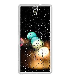 Printvisa Rain Drenched Window 2D Hard Polycarbonate Designer Back Case Cover For Sony Xperia C5 Ultra Dual :: Sony Xperia C5 E5533 E5563