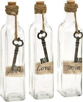 Imax 97157-3 Magdaline Inspirational Glass Bottles, Set Of 3