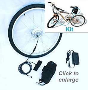 Electric Bike Kit / Electric Tricycle Kit Clean Republic Hill Topper, Lithium Battery Included 5 min Easy Installation Made in US