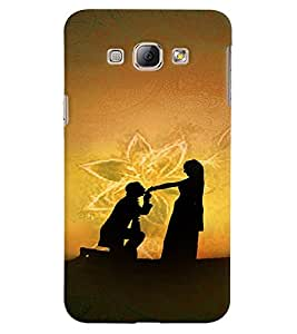 Fuson Premium My Love Printed Hard Plastic Back Case Cover for Samsung Galaxy A8