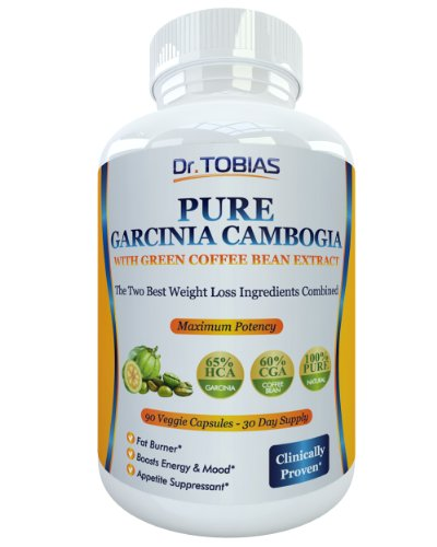 Pure Garcinia Cambogia Extract Plus Green Coffee Beans - 90 Capsules For A Real 30 Day Supply. 65% HCA (Hydroxycitric Acid) And 60% CGA (Chlorogenic Acid). Plus Potassium And Calcium For Optimal Absorption. Super Powerful Fat Burner And Appetite Suppressant Made From The Two Best Weightloss Ingredients. 1500 mg As Shown In Dr. Oz Show. Slim Down And Sculpt Your Figure With These Natural Effective Diet Pills. Easy. Backed by AMAZON GUARANTEE.