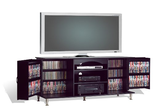 Prepac 60-Inch Plasma TV Console with Media Storage, Black