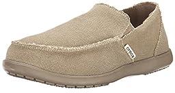 Crocs Men\'s Santa Cruz Slip-On Loafer,Khaki/Khaki,10 (D)M US
