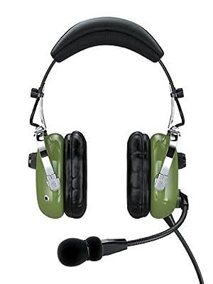 FARO G2-ANR Premium ANR Pilot Aviation Headset with Mp3 Input, Green