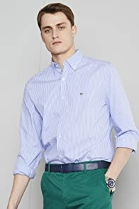 City Long Sleeve Bengal Stripe Button Down Collar Woven Shirt