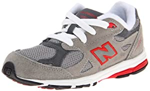 New Balance KJ990 Running Shoe (Infant/Toddler),Grey/Red,7.5 M US Toddler