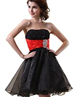 Sarahbridal Girls Tulle Beading Short Homecoming Dress Prom Gown SD018