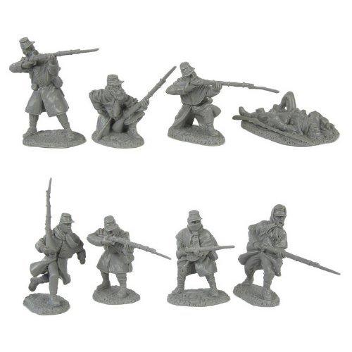 16 piece set of 54mm Figures 1:32 scale TSSD WWII Longcoat German Infantry Plastic Army Men